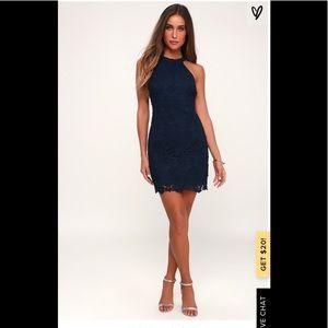 Lulu's navy halter dress